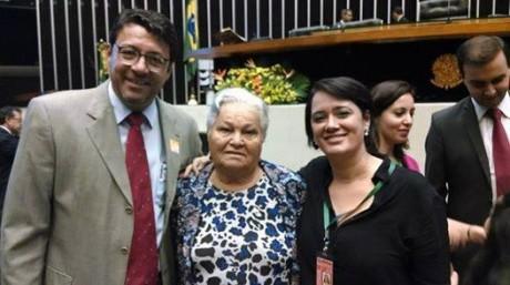Alan Francisco e  Maria Prestes, viúva de Luis Carlos Prestes.